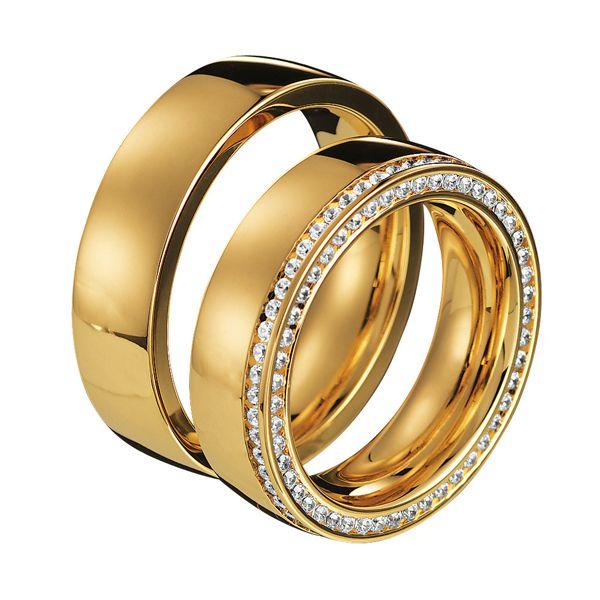 Alianzas Saint Maurice de la colección Infinity, en oro amarillo. Ref.: 49-88030/130 #boda #SaintMaurice #alianzas #anillos