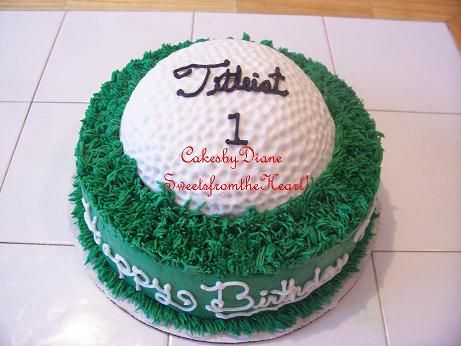 small golf cakes - Google Search