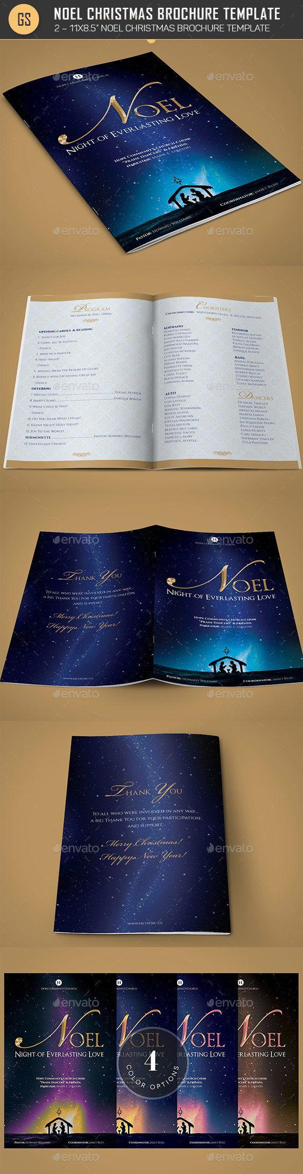 Noel Christmas Brochure Template - Informational Brochures