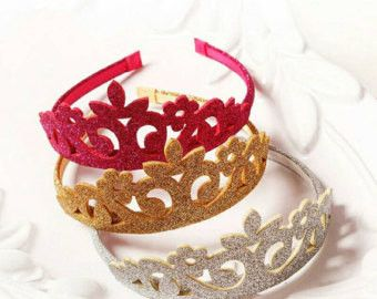 Perfect for Any Princess, Glitter Felt Crowns, Add to any outfit or give out as party favors.