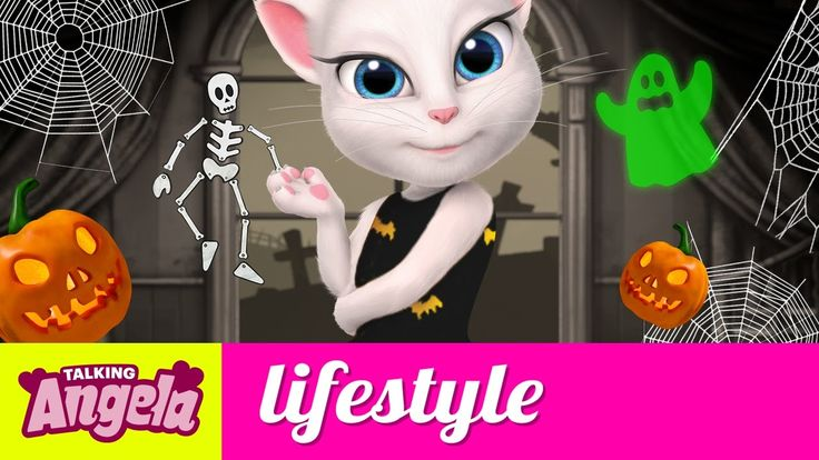 Talking Angela - Five Things I Like About Halloween, xo, Talking Angela #TalkingAngela #MyTalkingAngela #TalkingFriends #LittleKitties #TalkingGinger #TalkingHank #TalkingTom #TalkingBen #LittleKitties #MyTalkingAngela #story #Halloween #fun #spooky