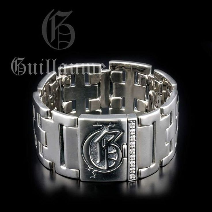 Sterling Silver Men Bracelet. Original design and a high quality silver by Onyx Jewelry Boutique.
