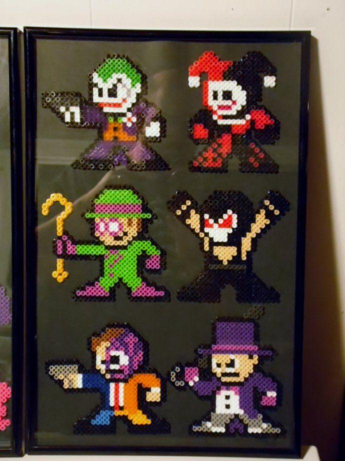 Batman villains perler beads by groundhog7s   Joker   Two-Face   Riddler   Bane   The Penguin Perler