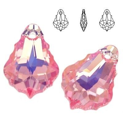 6090 Baroque 22mm Light Rose AB  Dimensions: 22,0 mm Colour: Light Rose AB 1 package = 1 piece