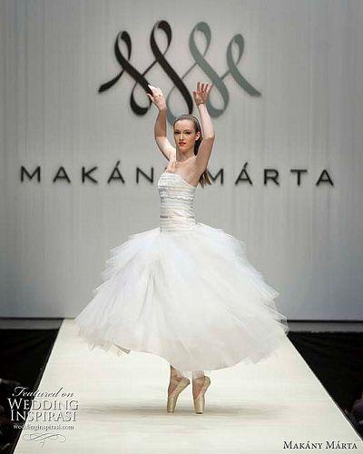 ballet wedding dress runway