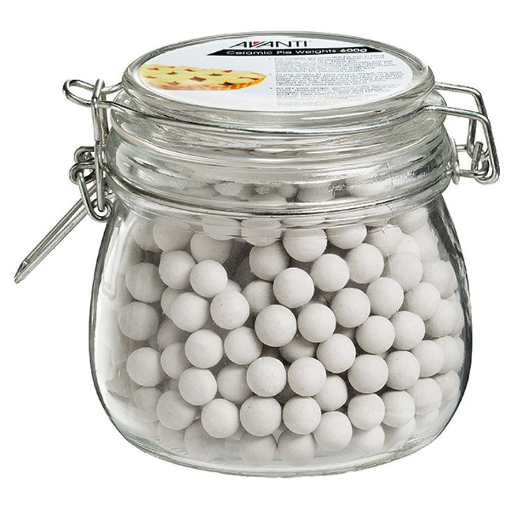 Avanti Ceramic Pie Weights in Glass Jar 600g For NZ$13.09 | Kitchenware Superstore