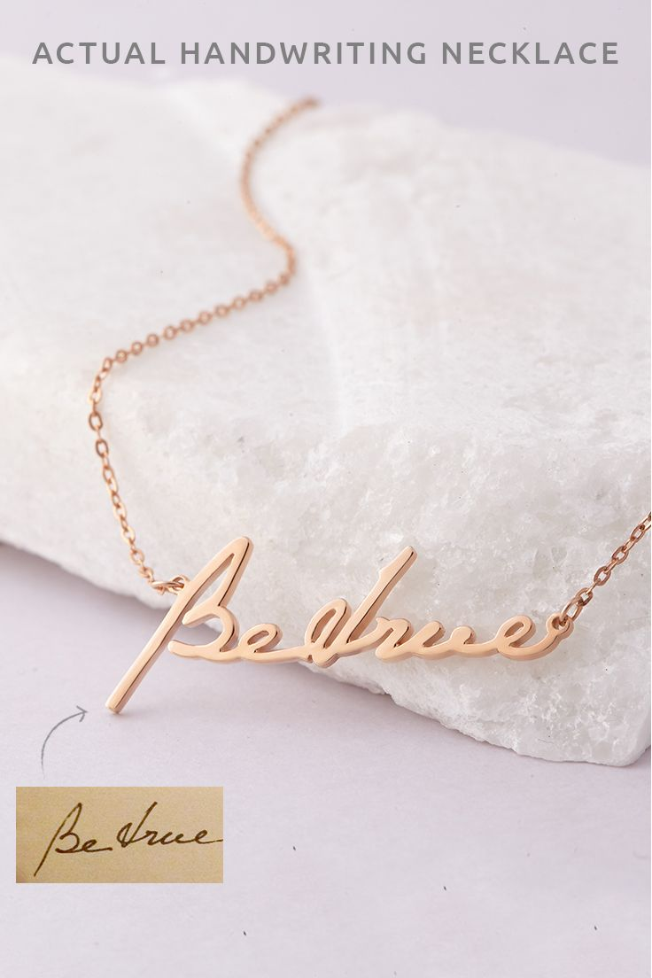 Actual Handwriting Necklace Signature Necklace Personalized Handwritten Necklace Per Handwriting Necklace Handwriting Jewelry Actual Handwriting Necklace