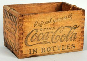 1920's Coca-Cola Dovetailed Wooden Carrier.
