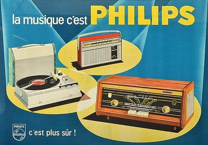 Philips advertising poster by Eric, French, circa 1962/1963