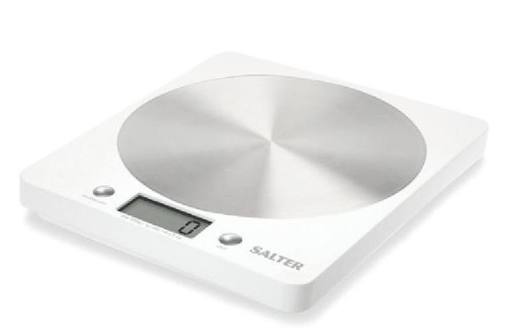Kitchen Digital Weighing Scales Stylish Silver Disc Designed Aluminium Made New