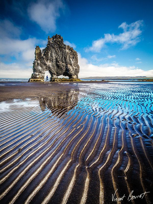 Hvitserkur, also known as the Stone Rhino is one of the most important attractions of the Vatnsnes peninsula in the western part of the bay Húnaflói, West Iceland