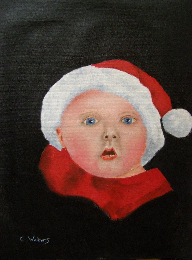 Christmas Baby 12 x 16 oil on canvas