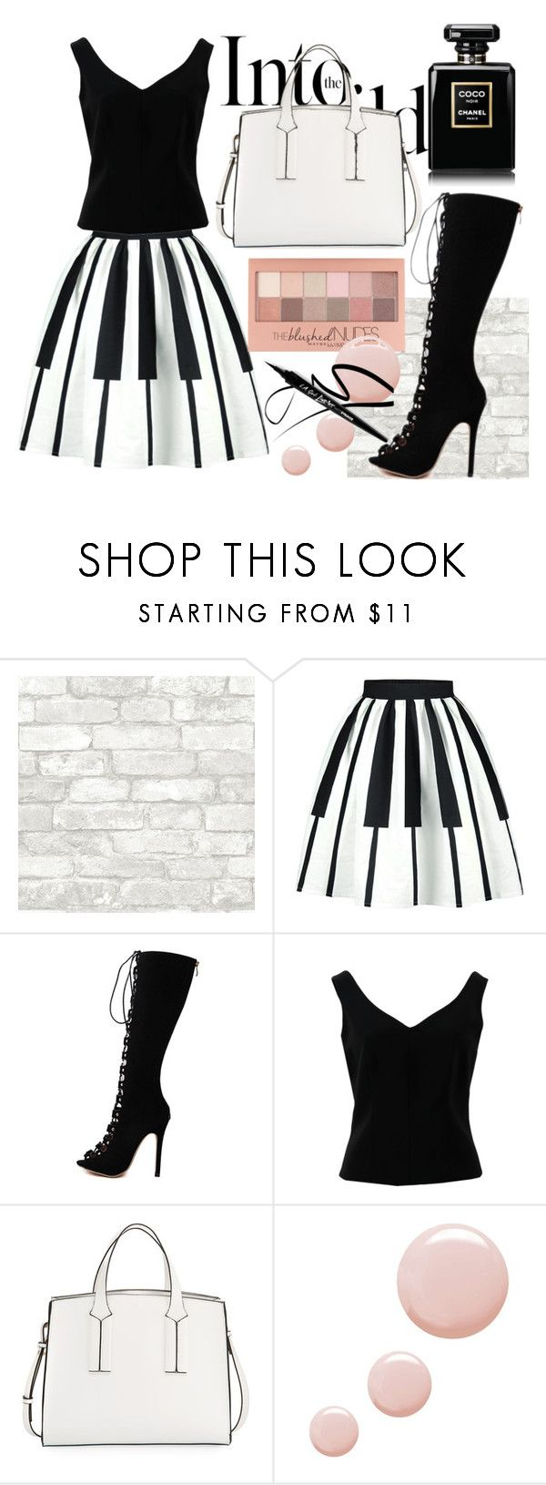 """""""Bez naslova #1"""" by nensi2 ❤ liked on Polyvore featuring Anja, WithChic, ADAM, French Connection, Maybelline and Topshop"""