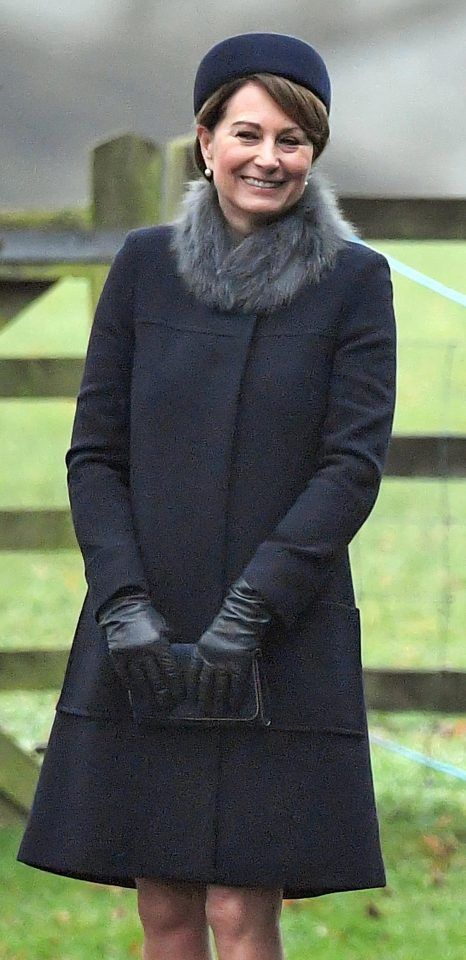Carole Middleton looked elegant in grey at church