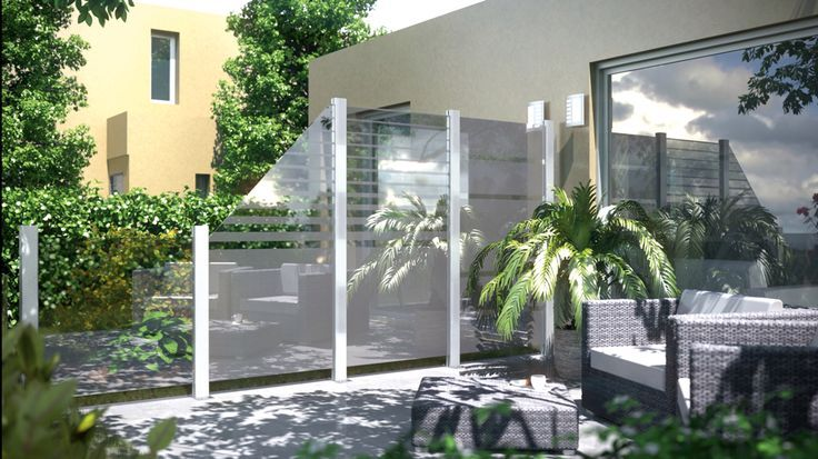 Privacy protection for the garden or terrace complacent