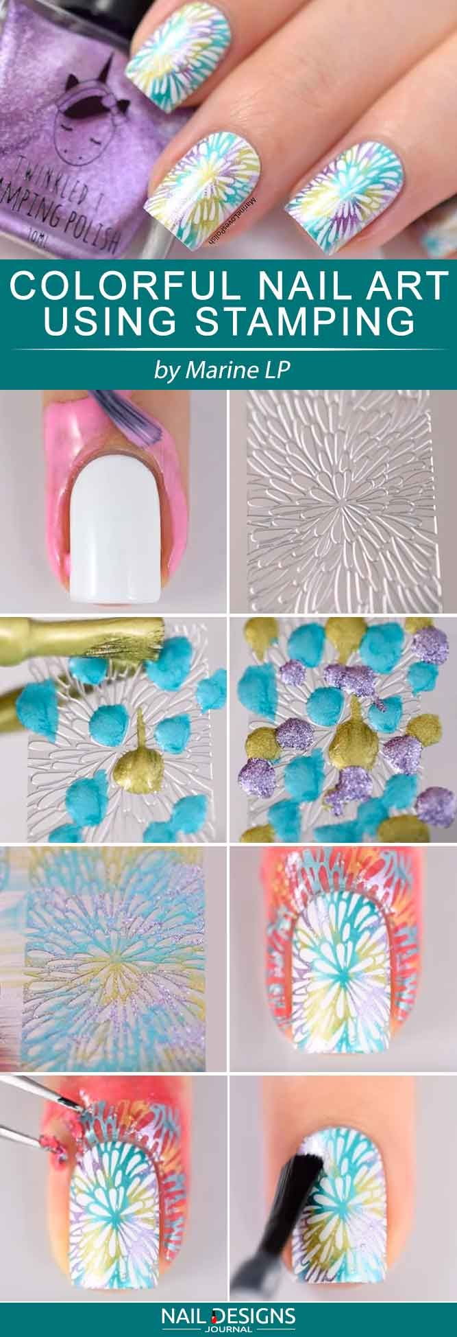 Fun Nail Designs That Are Easy To Do At Home ★ See more: naildesignsjourna… …