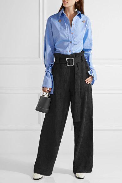 Rejina Pyo | Ava pintucked crepe wide-leg pants | NET-A-PORTER.COM