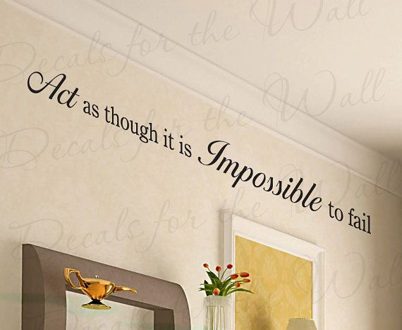 Act Thought Impossible Fail Office Inspirational Motivational Quote Sticker Decoration Art Mural Decor Vinyl Large Wall Lettering Decal IN63