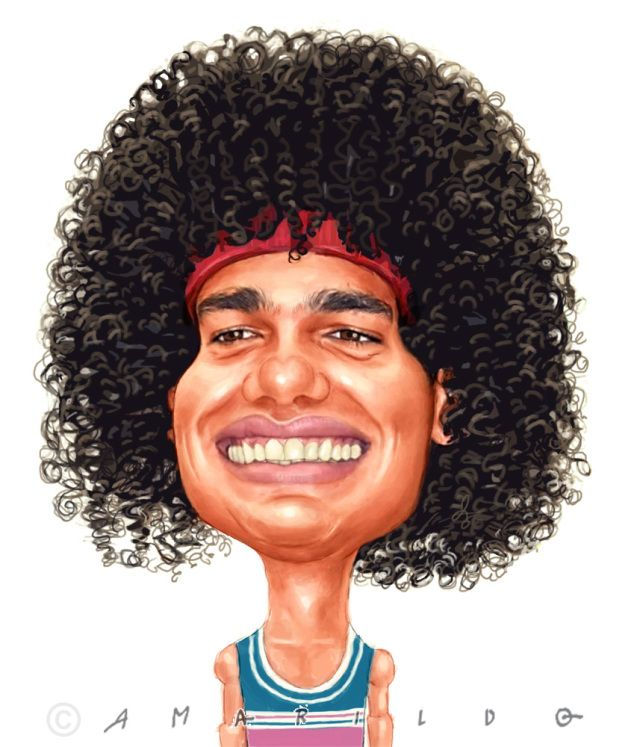 ANDERSON VAREJÃO - Caricaturas dos atletas Capixabas para o Jornal A Gazeta - Rumo às Olimpíadas Rio 2016 - www.amarildo.com.br #andersonvarejao #basquete #NBB #NBA #rio2016 #olimpiadas