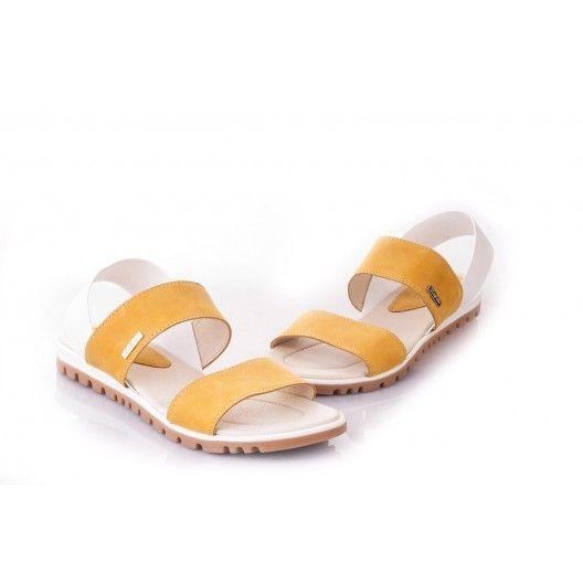 Oranžové dámske sandále vyrobené z najkvalitnejších materiálov - fashionday.eu