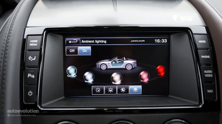 Jaguar F-Type interior ambient lighting
