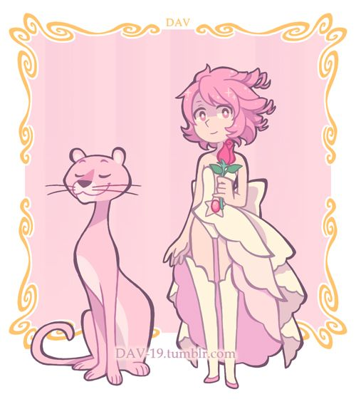 If Rose Quartz has a Pink Lion, then Rose Pearl has a Pink Panther :^) …