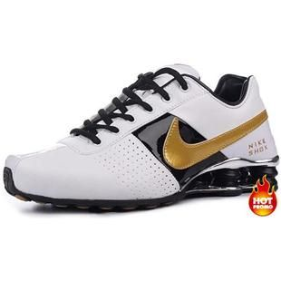 http://www.asneakers4u.com Mens Nike Shox Deliver White Gold Black