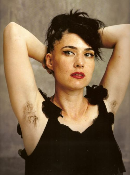 kathleen hanna.  love her sheer layer dress, hair and makeup.  Oh yeah, also that she rocks and is a legend.