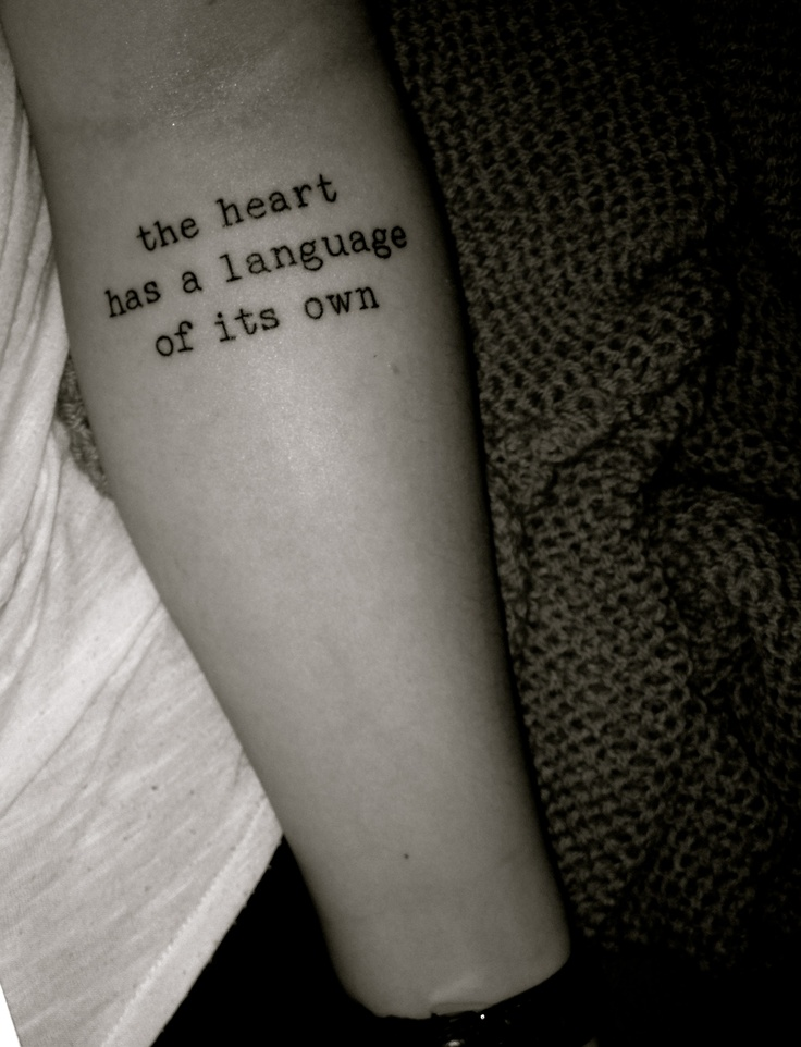 typewriter font tattoo | The ink I want... | Pinterest ...