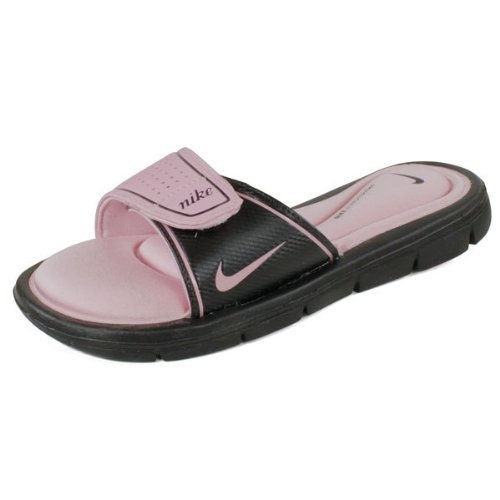 Nike Women`s Comfort Slide Shoes Black/Perfect Pink Nike,