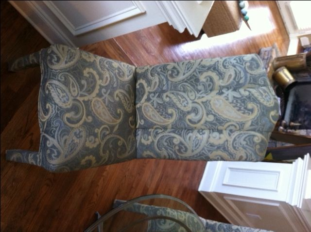 Hometalk :: It's a woman's prerogative to get custom chair reupholstery done then…