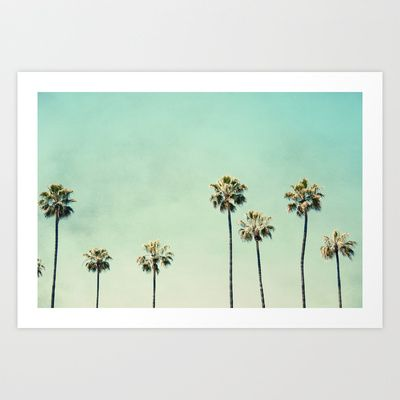 Palm Trees  Art Print by Bree Madden  - $18.00