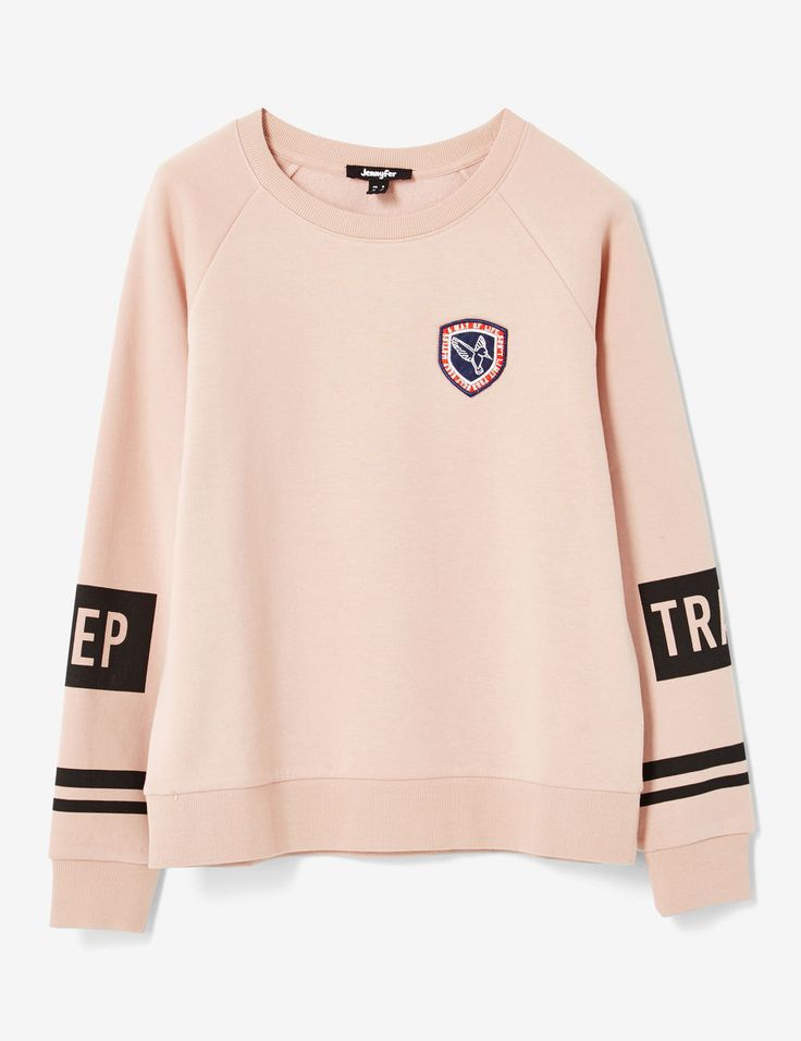 sweat keep track rose clair - http://www.jennyfer.com/fr-fr/vetements/joggness/sweat-keep-track-rose-clair-10015878080.html