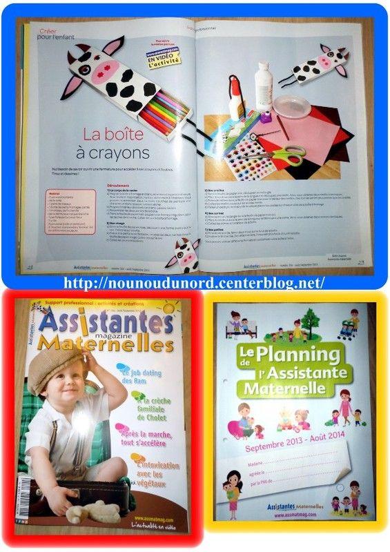 boîte à crayons vache que j'ai réalisée pour le magazine assistantes maternelles N°104 du mois Août et septembre  2013