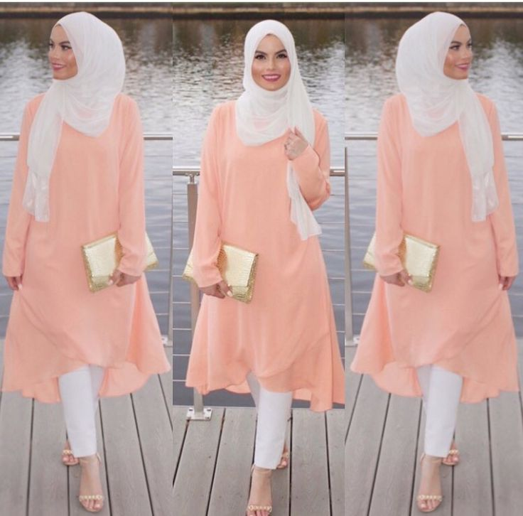 Peach Summer Spring Fall Hijab Fashion Pinterest