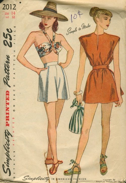 Simplicity 2012 bra, shorts, & poncho