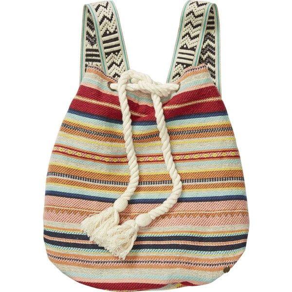 Bonfire Beachin' Backpack ($50) ❤ liked on Polyvore featuring bags, backpacks, bohemian bags, billabong backpacks, satchel handbags, strap bag and print backpacks