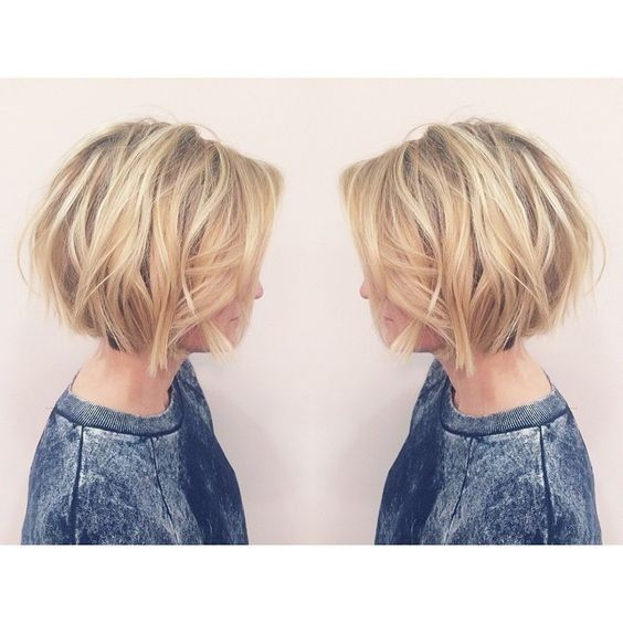Layered, Short Bob Haircut - Balayage Short Hairstyles for Women http://gurlrandomizer.tumblr.com/post/157387866017/ombre-hair-color-trends-for-short-hair-short