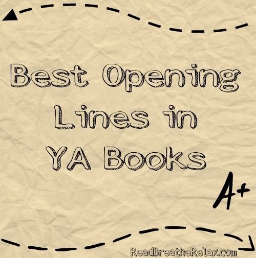 """Best Opening Lines in YA Novels (my favorite is from The Raven Boys: """"Blue Sargent had forgotten how many times she'd been told that she would kill her true love."""")"""