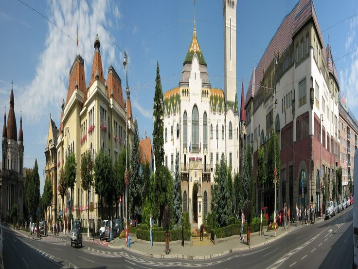Orasul Targu Mures, Romania.