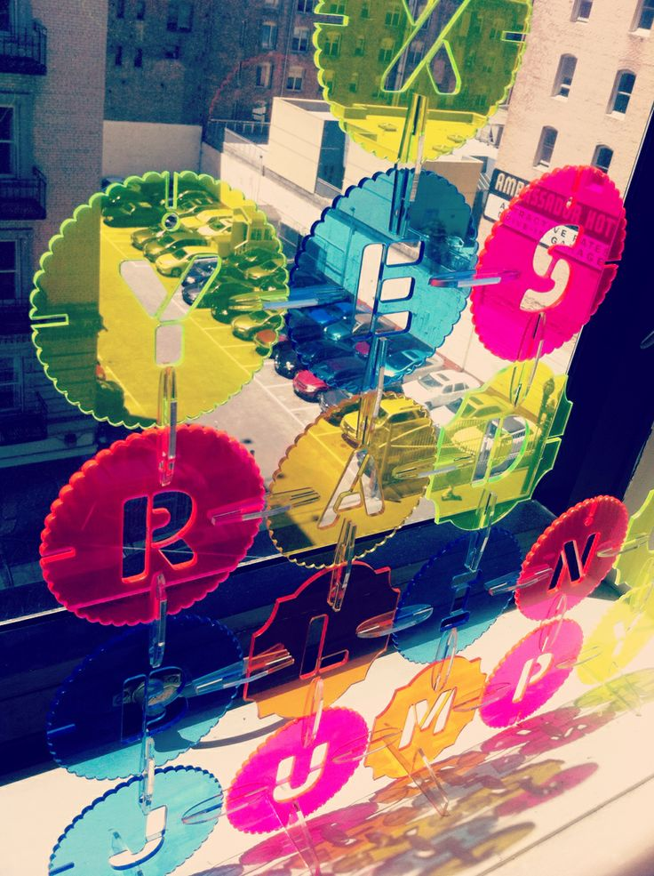 Laser cut letter discs made for our Open Studio tonight. THey make great window decor. ~ GLYFYX