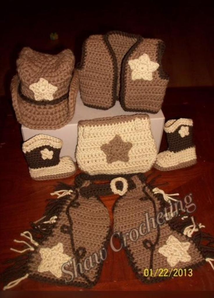 Cowboy Set Chaps Vest And Diaper Cover Craftsy