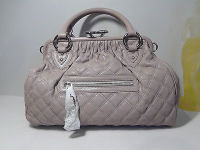 Marc-Jacobs-Blush-Quilting-Leather-Mini-Stam-Satchel-Handbag-NEW-1395