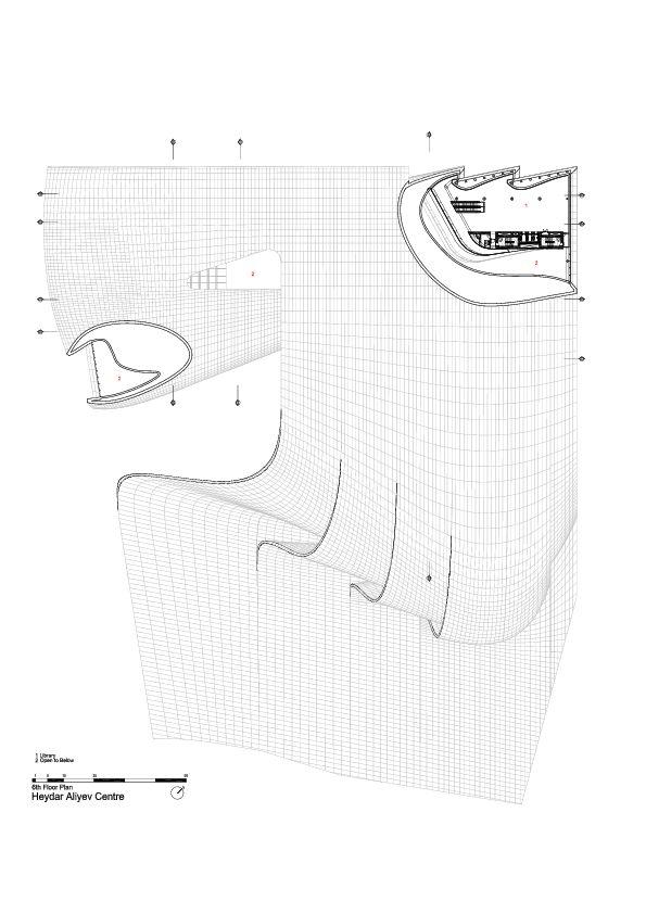 6th Floor Plan -> Heydar Aliyev Center / Zaha Hadid Architects