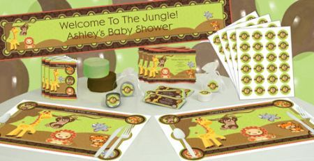 Save Time and Money Buying Jungle Theme Baby Shower Party Supplies Online