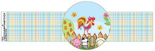Baby Farm in Light Blue: Free Party Printables.