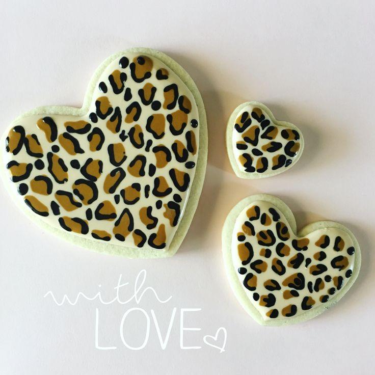 valentine day leopard nails