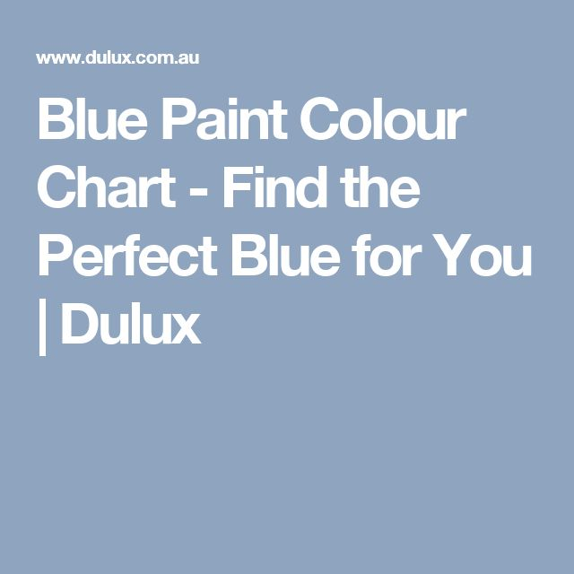 Blue Paint Colour Chart - Find the Perfect Blue for You | Dulux