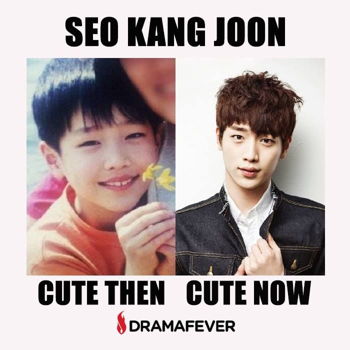 Aww baby Seo Kang Joon! So cute then and so cute now in CHEESE IN THE TRAP!