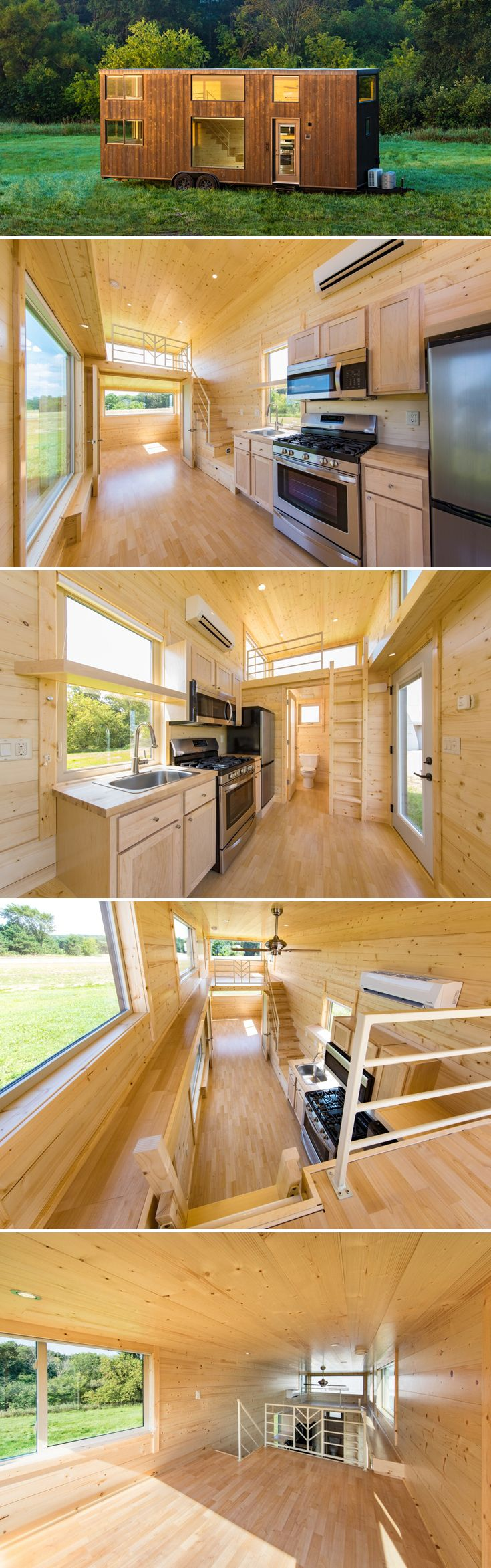 The 30' Escape One XL offers a private main floor bedroom and sleeping loft. Clerestory and picture windows provide an abundance of natural light.